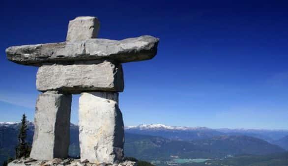Steinskulptur in Kanada